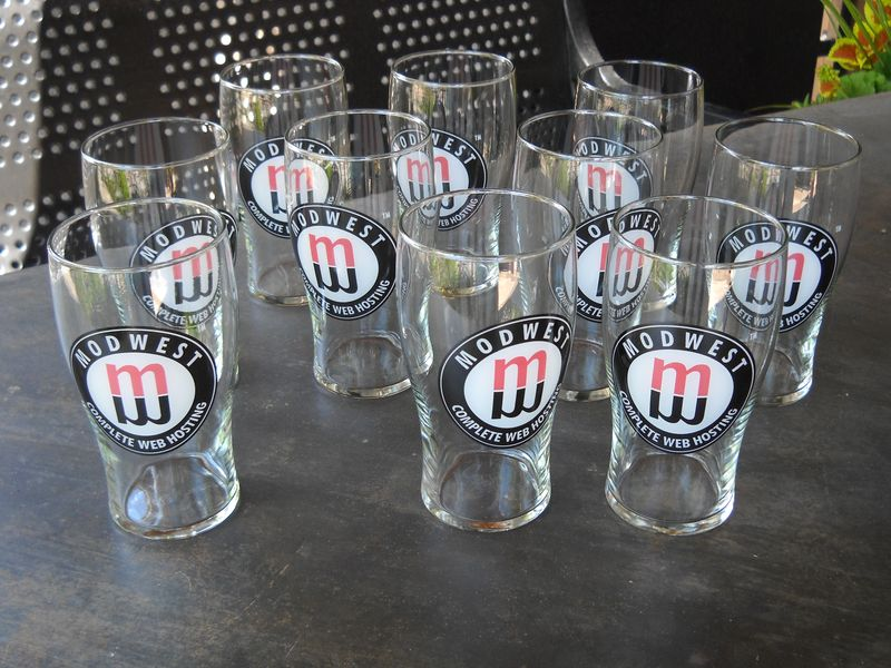 10 Modwest glasses waiting for new homes